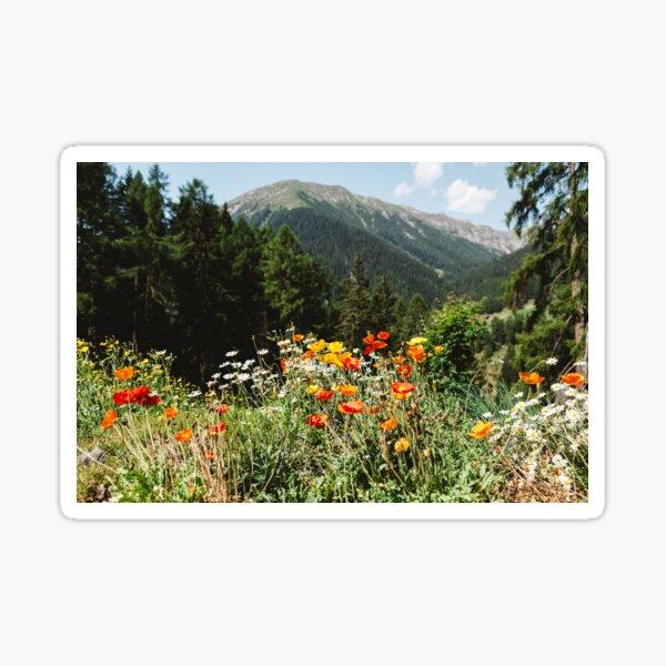 Mountain garden Sticker