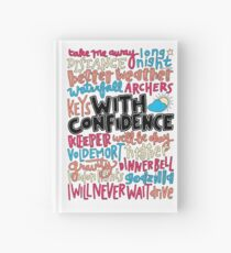 With Confidence collage  Hardcover Journal