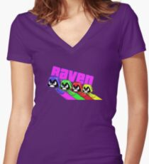 Camiseta entallada de cuello en V Raven Roth