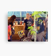 Market Shopping Metal Print