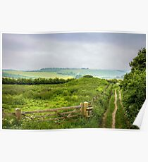 English Country Landscape 2 Poster