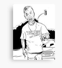 Zombie - Eat Flesh Canvas Print