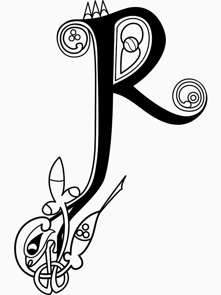Kells Buchstabe R von CatholicSaints