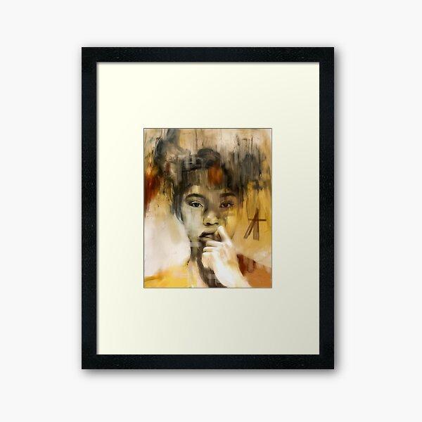 African American poster Framed Art Print