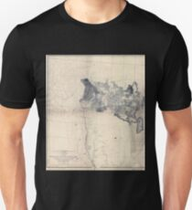 0080 Railroad Maps From the valley of the Mud Lakes to the Pacific Unisex T-Shirt