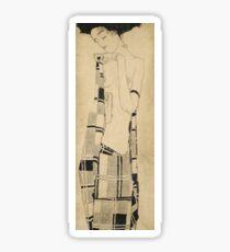 Egon Schiele - Standing Girl  Sticker
