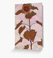 Egon Schiele - Sunflower 1909 Greeting Card