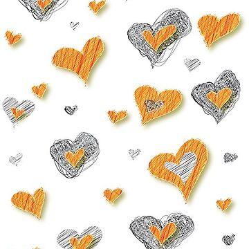 Gold & Silver Hearts by KayJay28