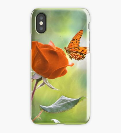 The Flower and the Butterfly iPhone Case
