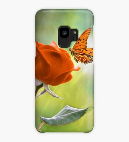 The Flower and the Butterfly Case/Skin for Samsung Galaxy