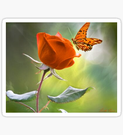 The Flower and the Butterfly Sticker