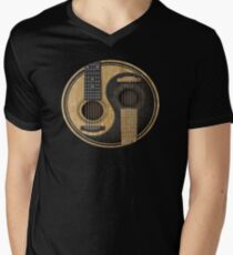 Acoustic Guitars Yin Yang Men's V-Neck T-Shirt