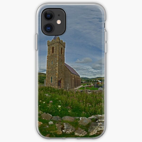 Glencolmcille Panorama with Church iPhone Soft Case