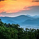 Sunrise over the Smokies by Douglas  Stucky
