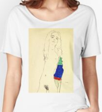 Egon Schiele -Standing Female Nude  Women's Relaxed Fit T-Shirt