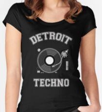 Detroit Techno Women's Fitted Scoop T-Shirt