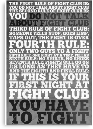 Fight Club Rules by joanalbuquerque
