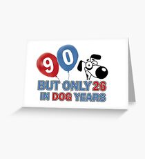 90th year old birthday design Greeting Card