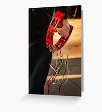 The red tambourine Greeting Card