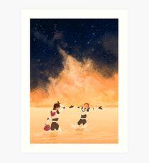 Orange Sea - Klance Art Print