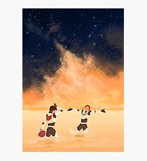 Orange Sea - Klance Photographic Print