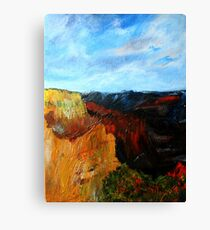 Arizona Desert Landscape Acrylics On Canvas Board Canvas Print