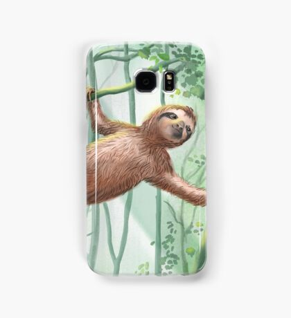 Sweet Sloth and Butterflies Samsung Galaxy Case/Skin