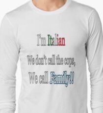 Italian call family Long Sleeve T-Shirt