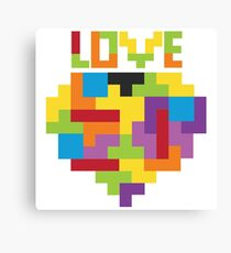Love Tetris  Canvas Print