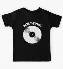 Rette das Vinyl Kinder T-Shirt