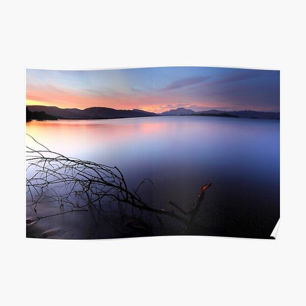 Sunset at Loch lomond Poster