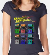 MANIAC MANSION ARCADE ROOM Women's Fitted Scoop T-Shirt