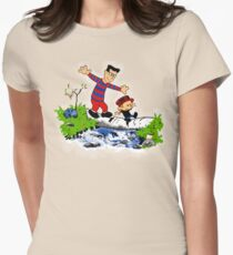 Little Viking and Strong Man Womens Fitted T-Shirt