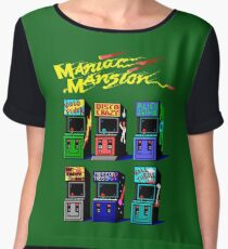 MANIAC MANSION ARCADE ROOM Women's Chiffon Top