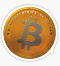 Bitcoin : In cryptography we trust Sticker