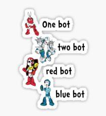 One bot, two bot, red bot, blue bot Sticker