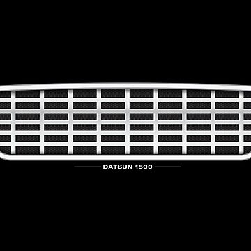Datsun 1500 Grille - poster by shiftco