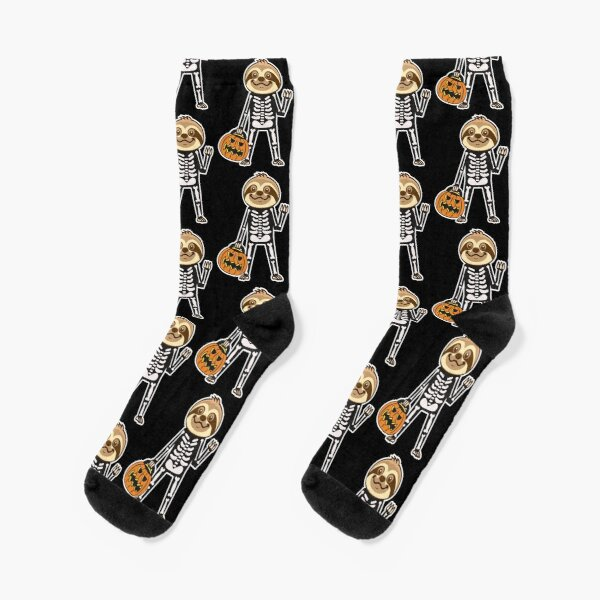 Sloth Skeleton Socks