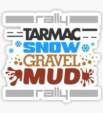 Rally – tarmac snow gravel mud (4) Sticker