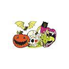 Halloween Monster Sticker by Patricia Johnson