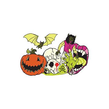 Halloween Monster Sticker by CreativeArtist