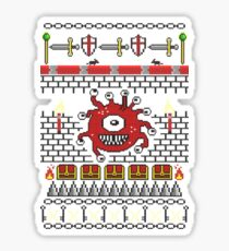 Dungeons and Dragons - Knitted Style Sticker