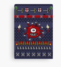 Dungeons and Dragons - Knitted Style Canvas Print