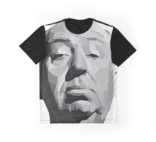 Alfred Hitchcock Geometric Graphic Graphic T-Shirt