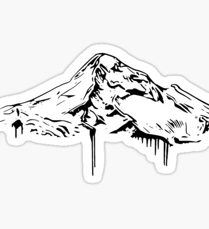 Mt. Hood Black Sticker