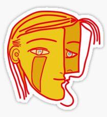 Cubist head Sticker