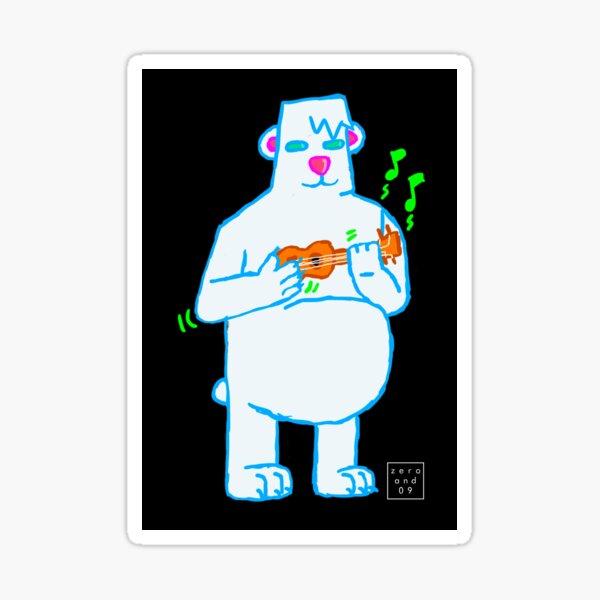 Guitar Bear Sticker