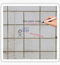 The Stall Wall - Create Your Own Bathroom Graffiti On Gray Tile Sticker