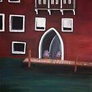 Venice Inspired Acrylic Painting by Melissa Renee