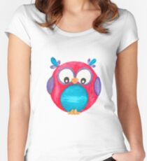 Pipsie the cute little owl Women's Fitted Scoop T-Shirt